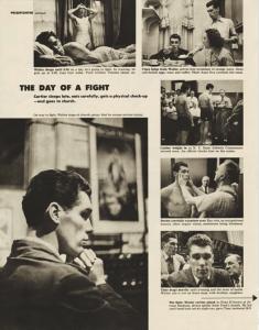 Foto-reportagem ''Frizefighter'' (1949), fotos de Stanley Kubrick