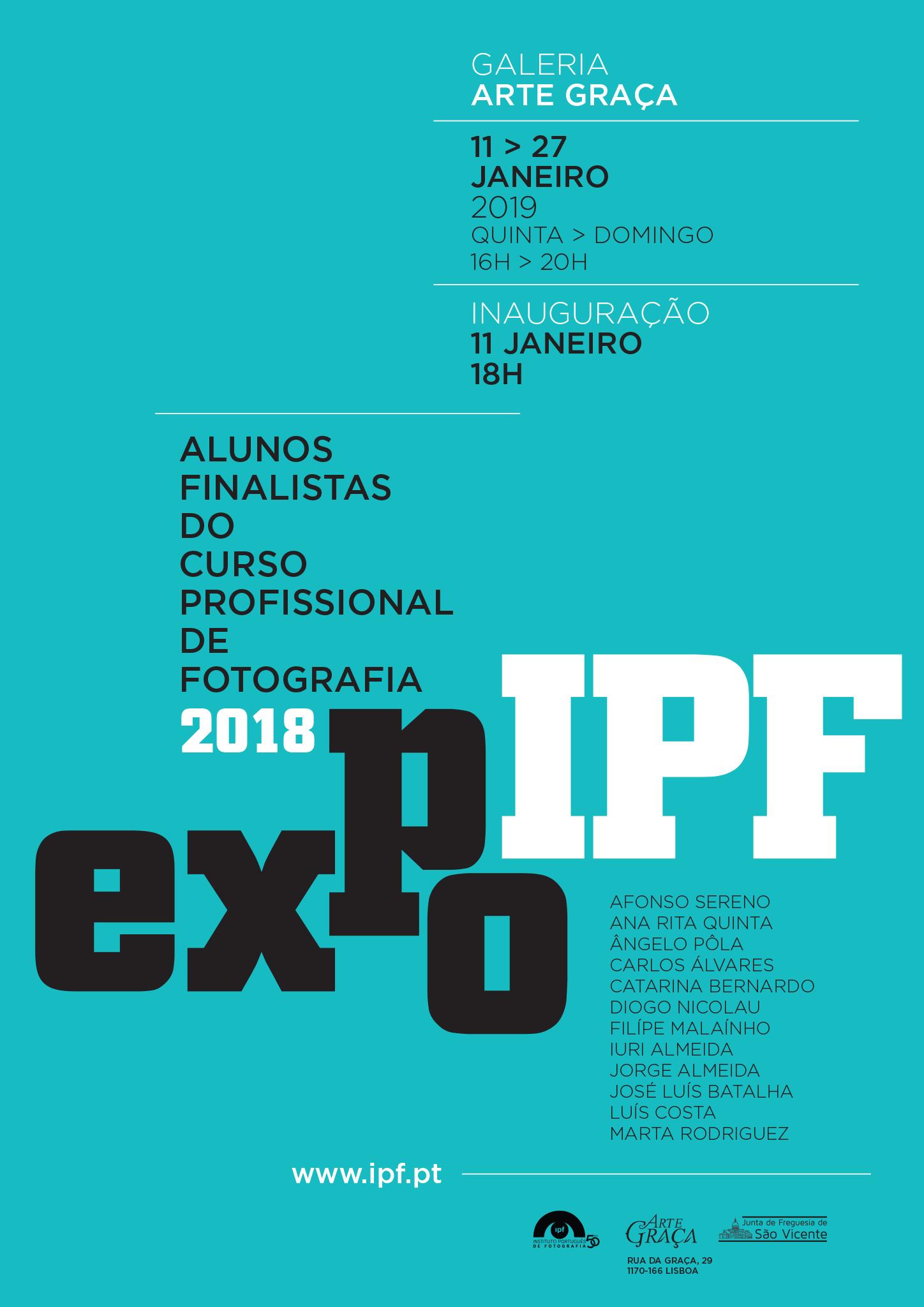 Exposição Finalistas do Curso Profissional de Fotografia 16-18